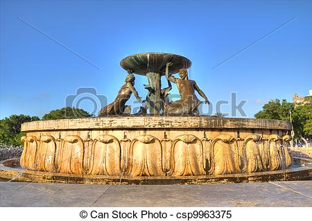 Stock Images of Triton Fountain.