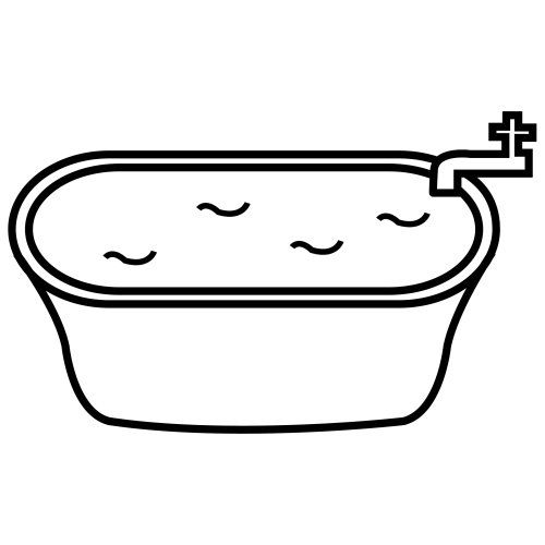 Tub of water clipart.