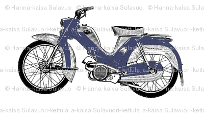 blue moped scooter Tunturi fabric.