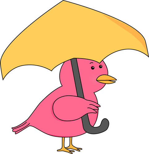 Clipart People With Umbrellas.