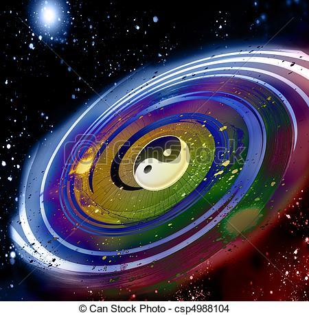 Stars in the Universe Clip Art.