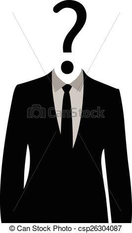 Vector of Unknown man in suit.
