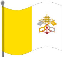 Vatican City Flag Waving Clip Art Download.