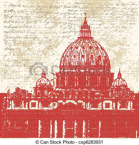 Vector Clip Art of Saint Peters Background.