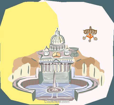 Vatican City, Rome, Italy Royalty Free Vector Clip Art.
