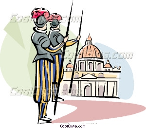 Vatican guards Vector Clip art.