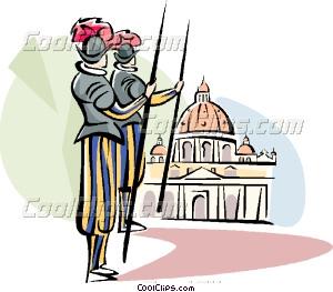 Vatican guards Vector Clip art.