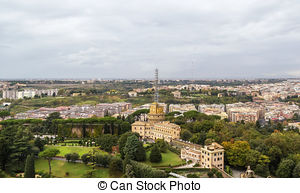 Pictures of View at the St Peter's Basilica from the Vatican.