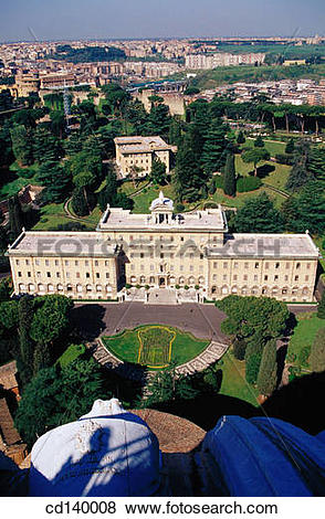 Pictures of The Governatorato. Vatican Gardens. Rome. Italy.