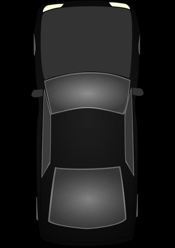 Car Clipart Top Down View.