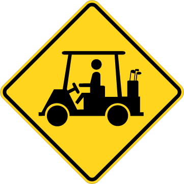 Watch Out For People With Golf Carts Sticker.