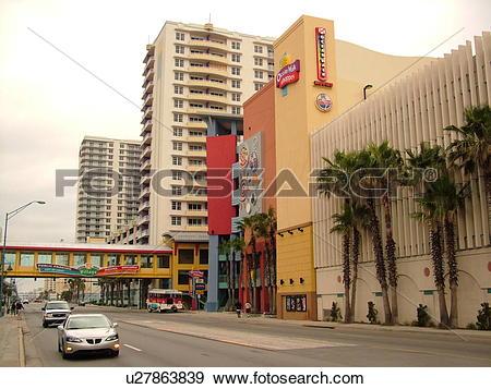 Stock Photograph of Daytona Beach, FL, Florida, Ocean Walk Village.