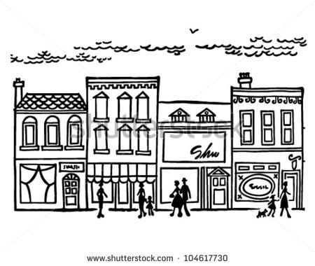 Town Street Clipart.