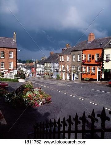 Stock Photo of Main street, Hillsborough village, Co Down, Ireland.
