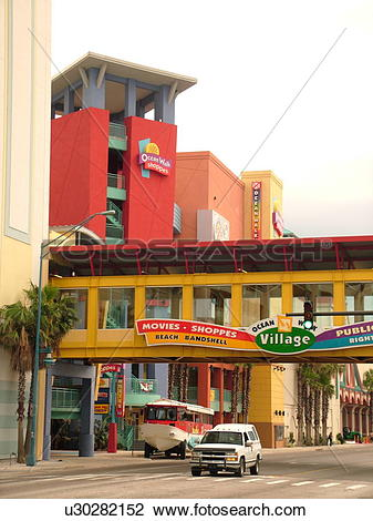 Stock Photo of Daytona Beach, FL, Florida, Ocean Walk Village.