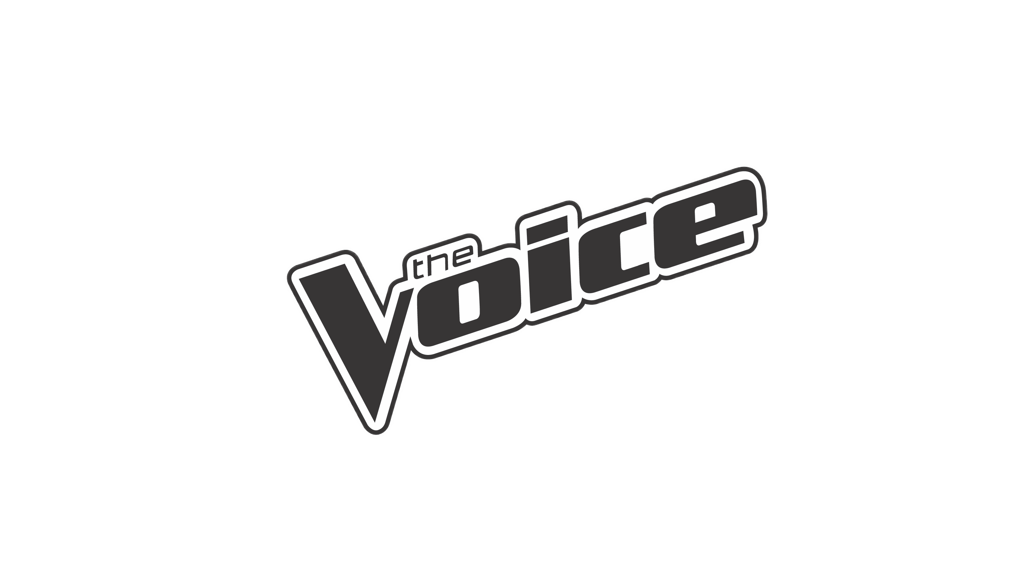 The Voice Logo Black and White transparent PNG.
