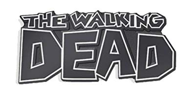 The Walking Dead Logo Soft Enamel Black Metal Plated Lapel Pin by  Yesterdays Co..