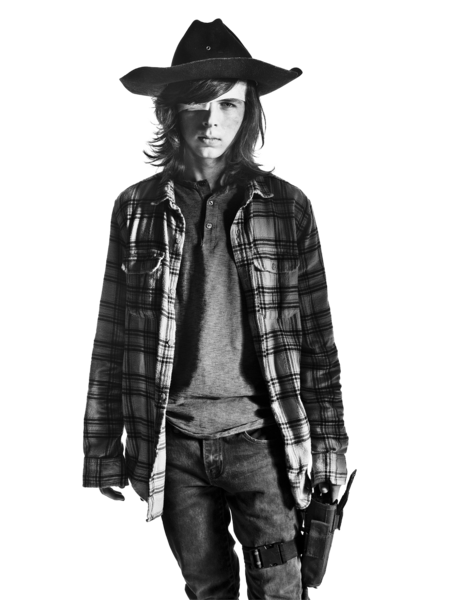 Carl Grimes From The Walking Dead (PNG).