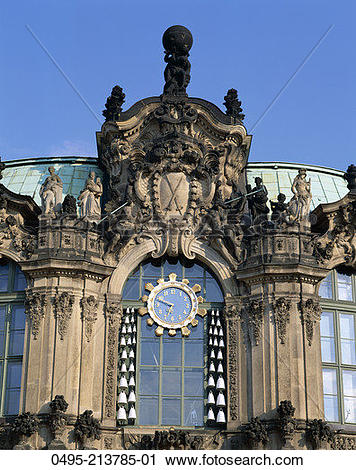 Stock Photography of Germany, The Zwinger, Detail of The.