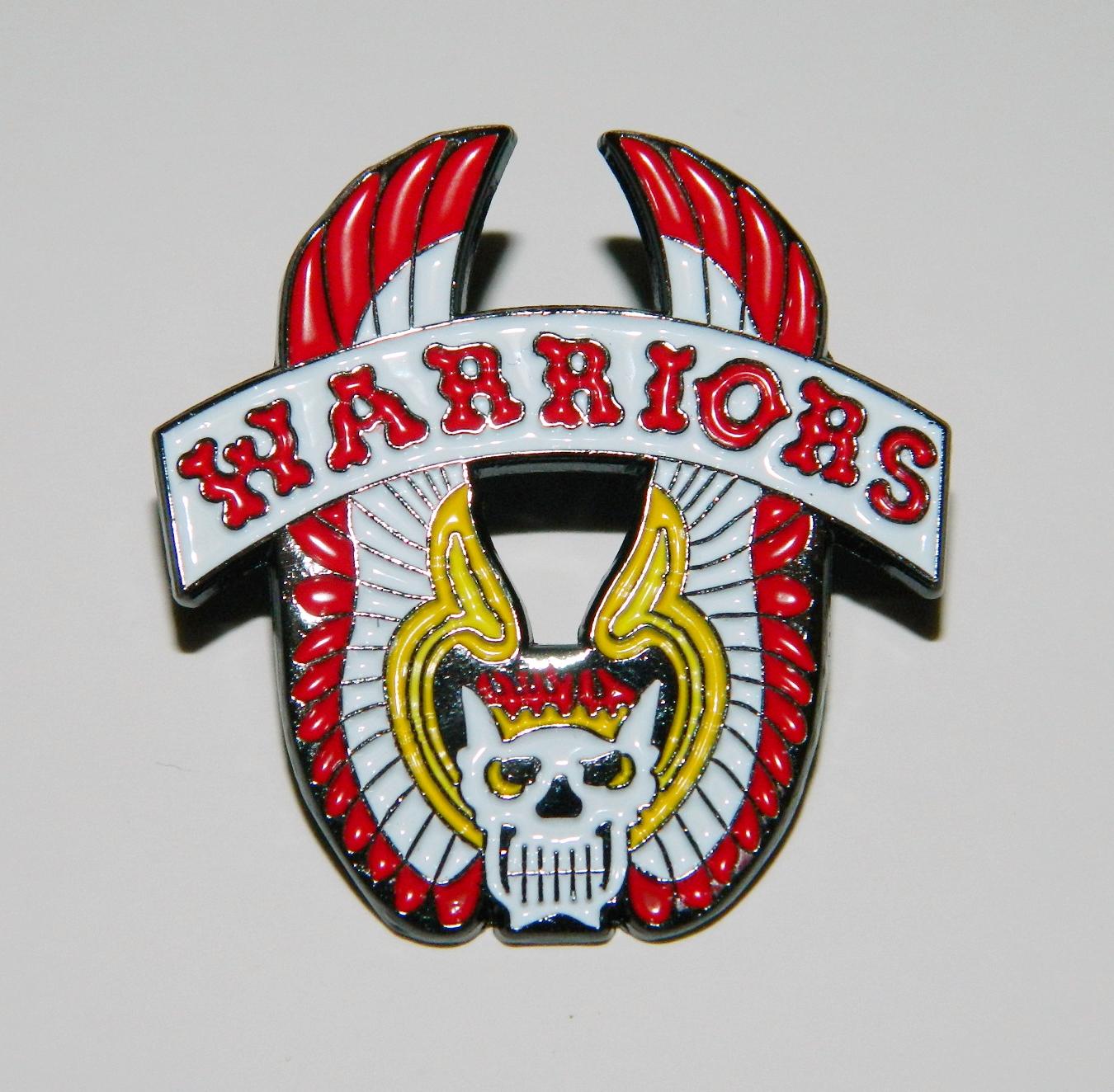 The Warriors Movie Winged Skull Jacket Logo Metal Enamel Pin NEW UNUSED.