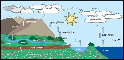 Image result for Water Cycle clipart.
