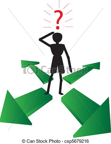 Asking the way clipart.