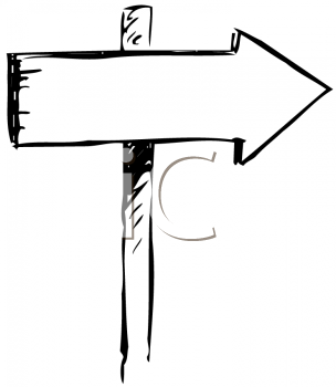 Wooden Sign with an Arrow Pointing the Way to Go.