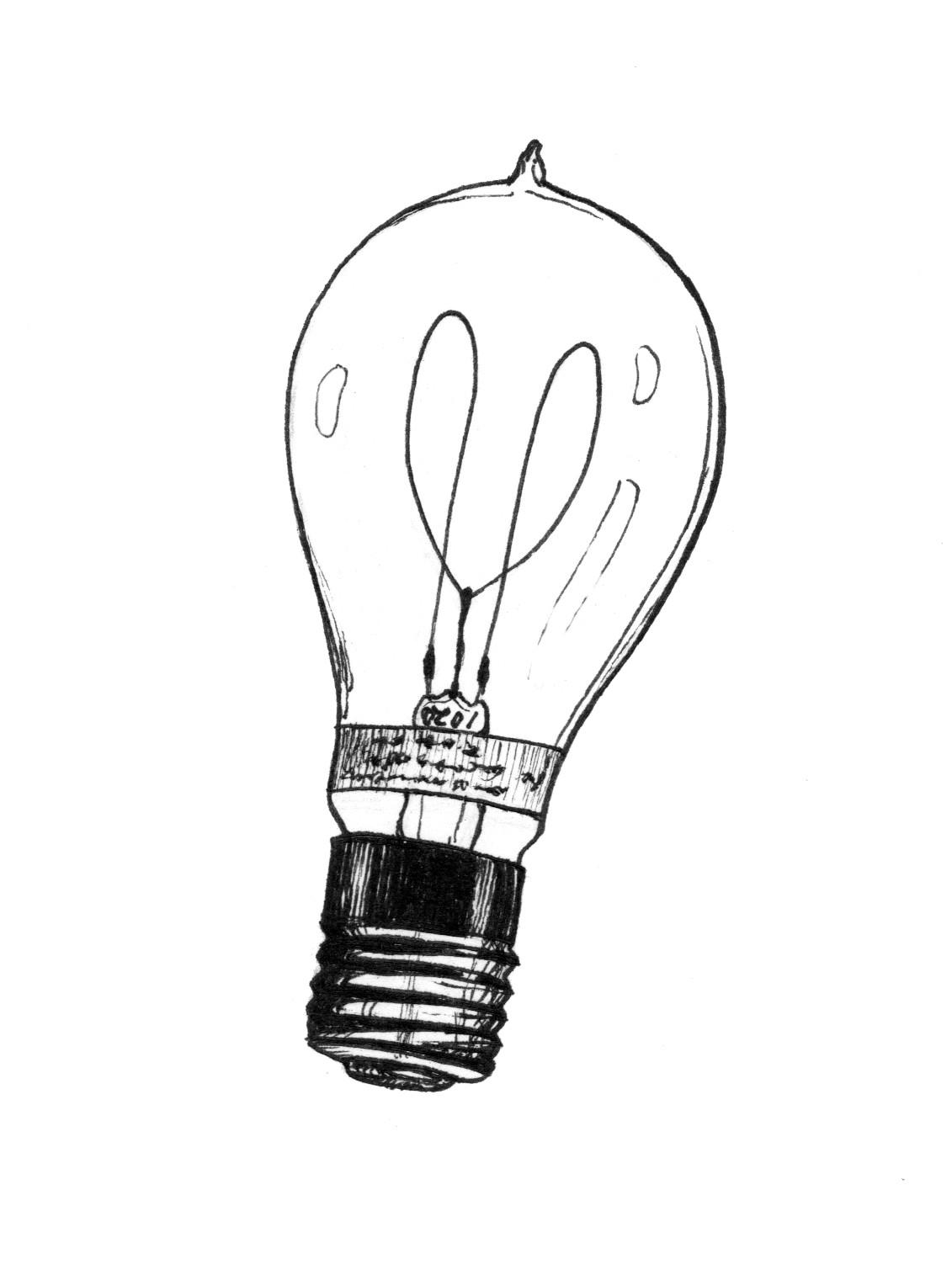 Light Bulb Drawing Halogen Way Clipart.