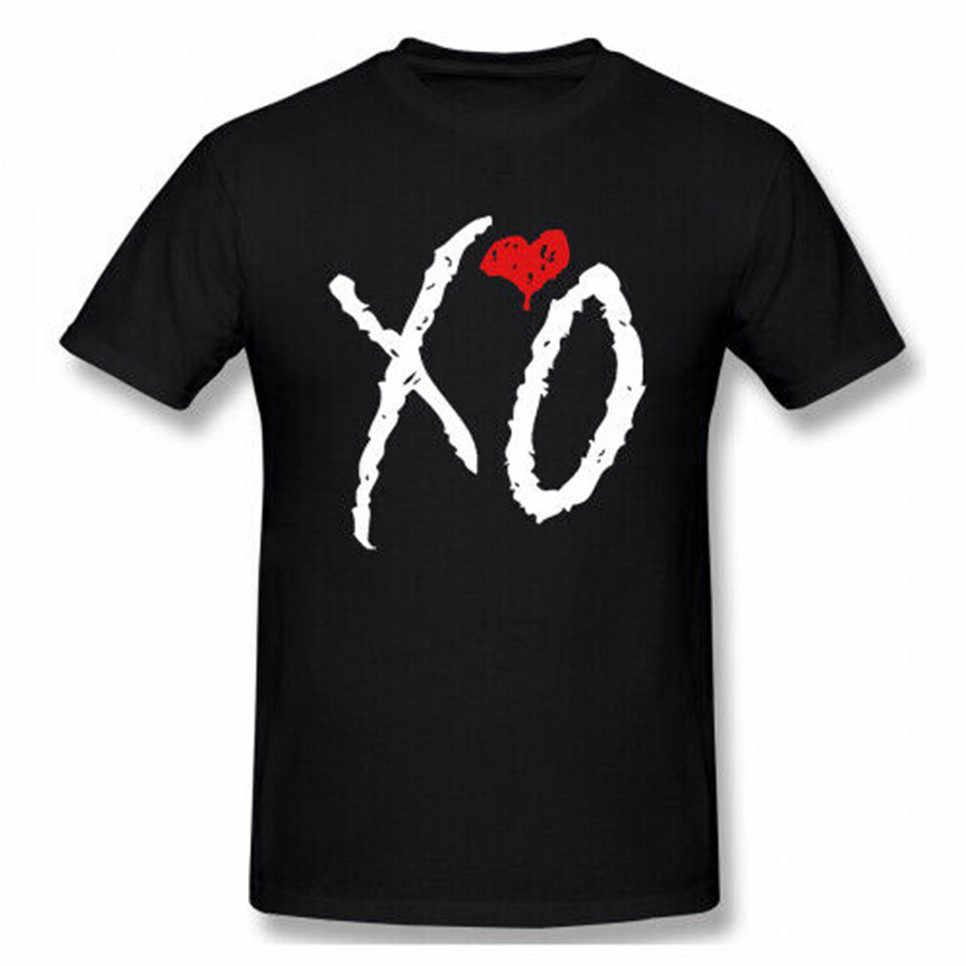 Men The Weeknd Xo Logo 100% Cotton T Shirt Tee High Quality Tee Shirt.