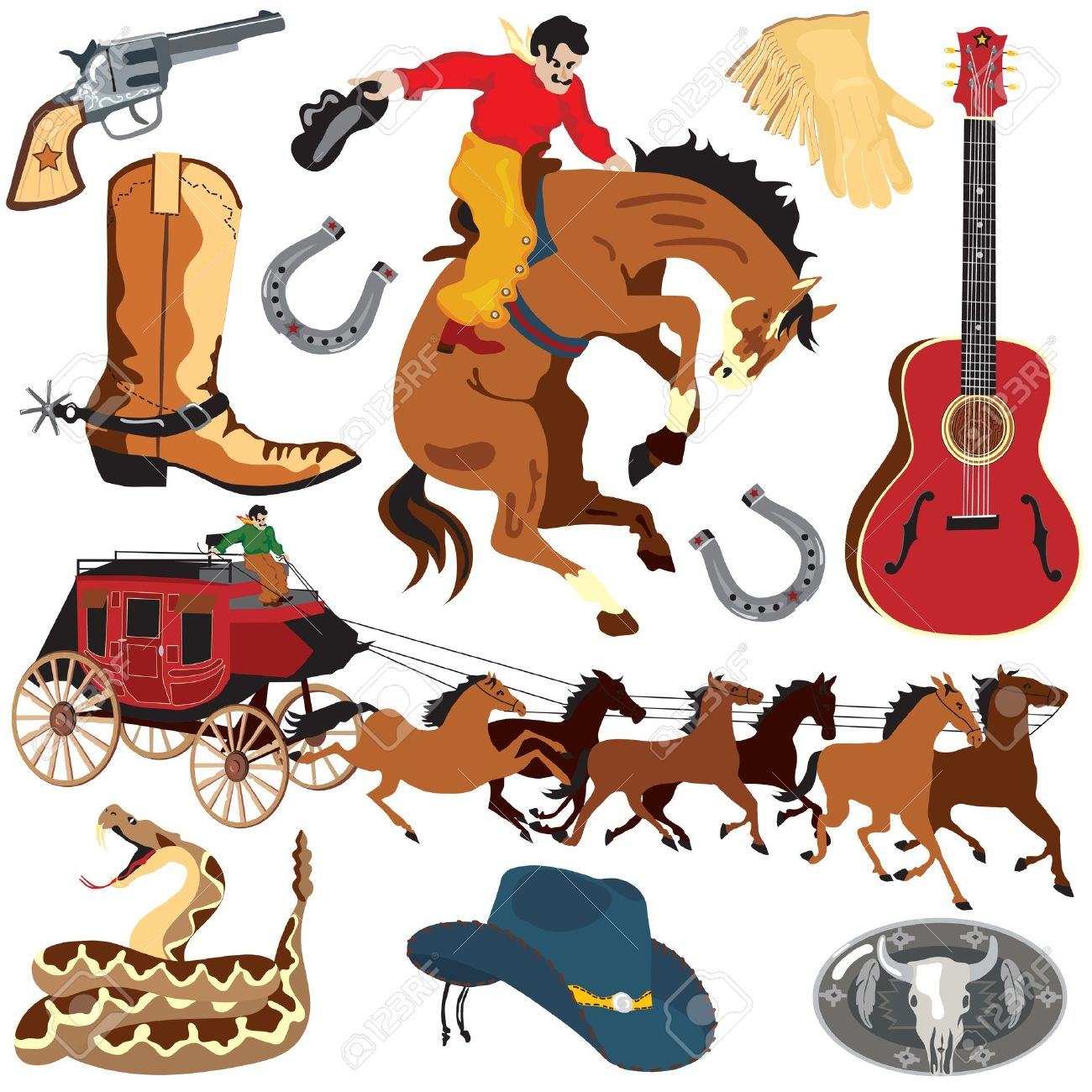 Wild west pictures clip art.