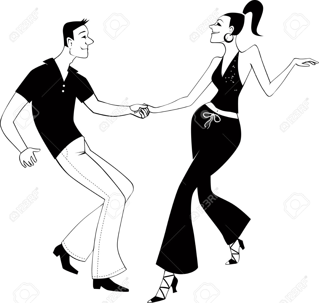 West Coast Swing Dancers Clip Art Royalty Free Cliparts, Vectors.