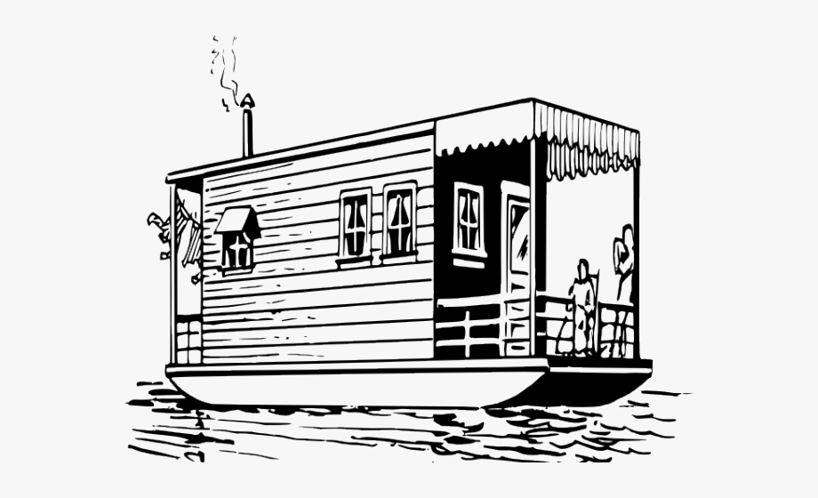 Boat House Clipart Black And White.