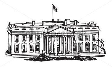 White House Clipart Black And White.