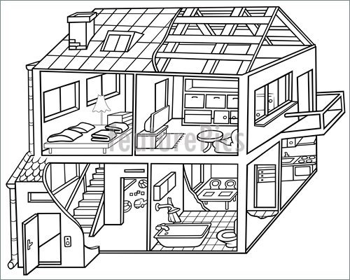 Black And White House Clipart Free Download Clip Art.