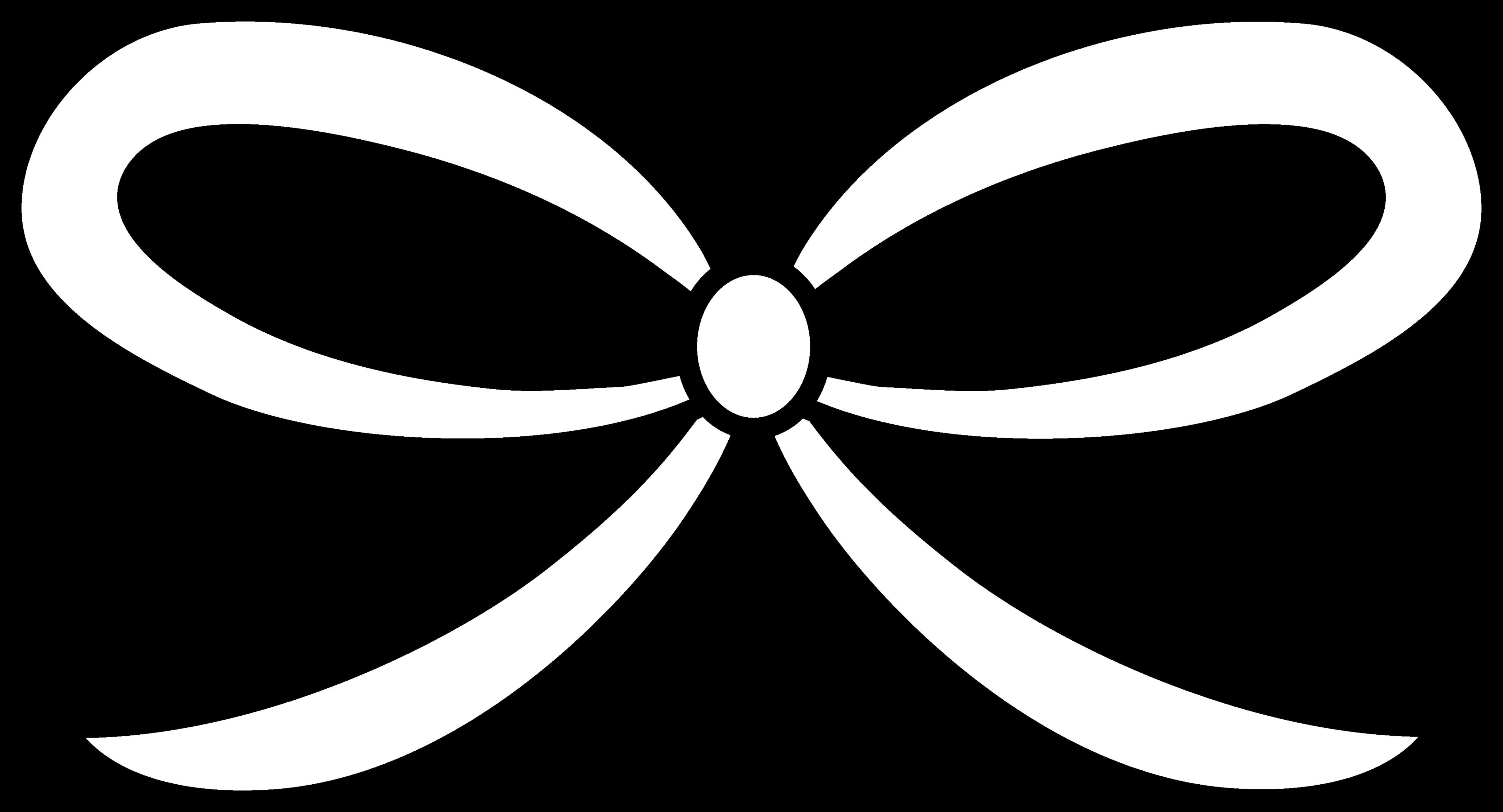 Ribbon clipart black and white.