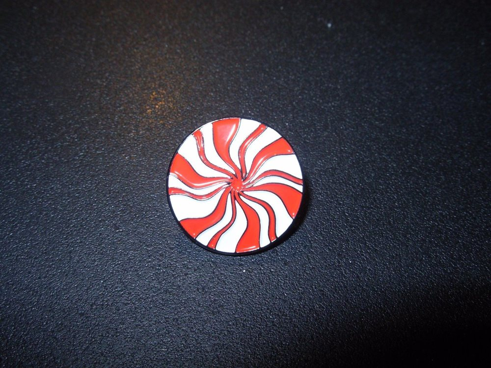 THE WHITE STRIPES icky thump Peppermint LAPEL PIN Jack Third Man Records.