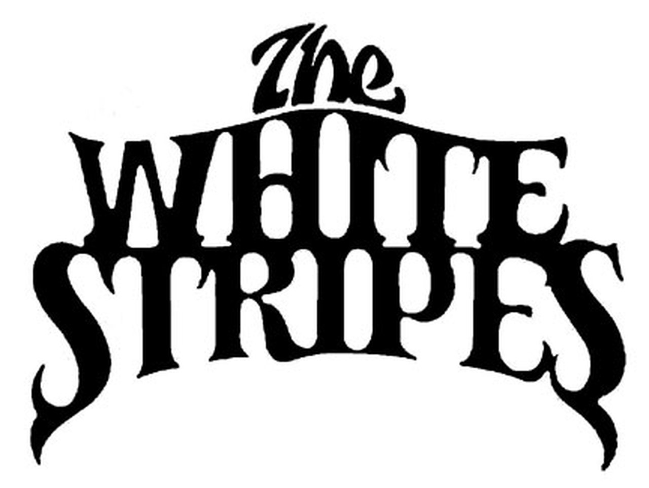 The White Stripes Band Logo Vinyl Decal Sticker.
