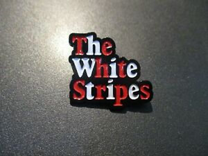 Details about THE WHITE STRIPES icky thump Classic Text Logo LAPEL PIN Jack  Third Man Records.