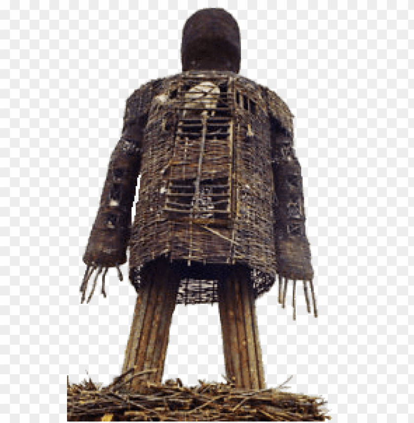 wicker man PNG image with transparent background.