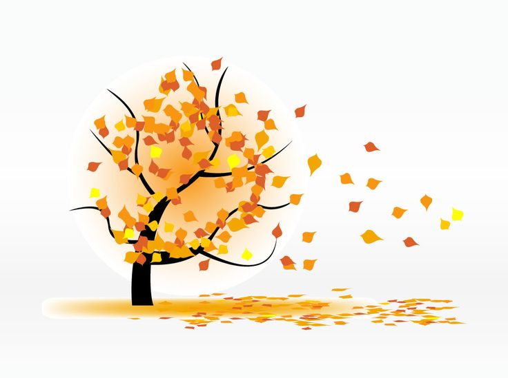 Leaves Blowing In The Wind Clipart.