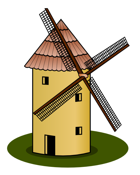 Windmill Clipart.