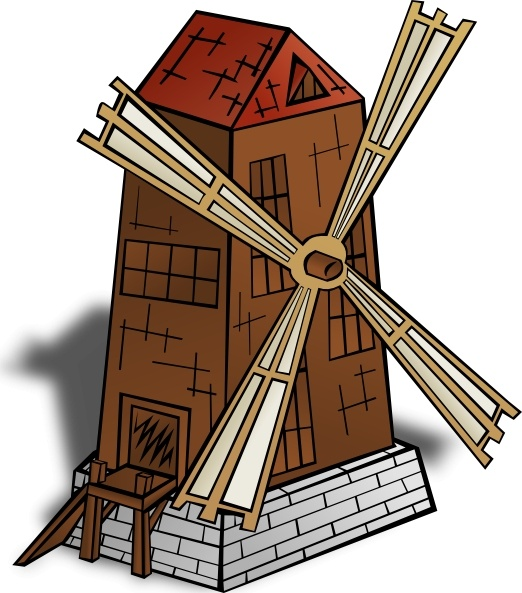 Windmill clip art Free vector in Open office drawing svg ( .svg.