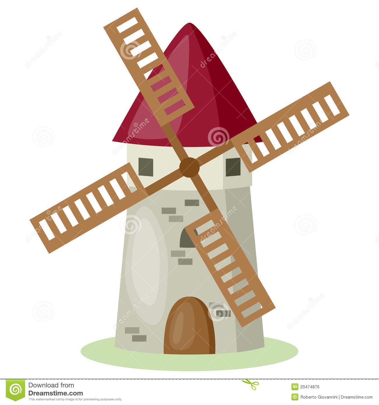 Windmill Stock Illustrations.