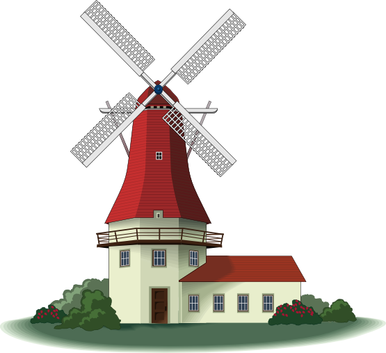 Free to Use & Public Domain Windmill Clip Art.