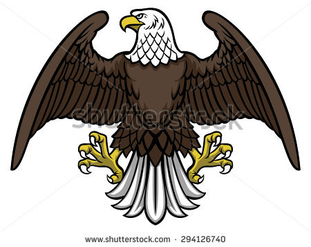 Eagle Spread Wings Stock Vector 412346575.