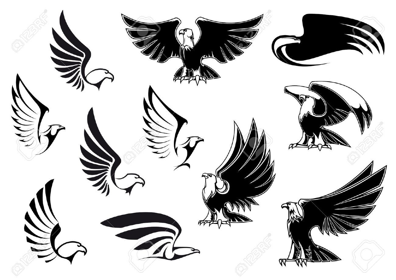12,984 Eagle Wings Stock Vector Illustration And Royalty Free.