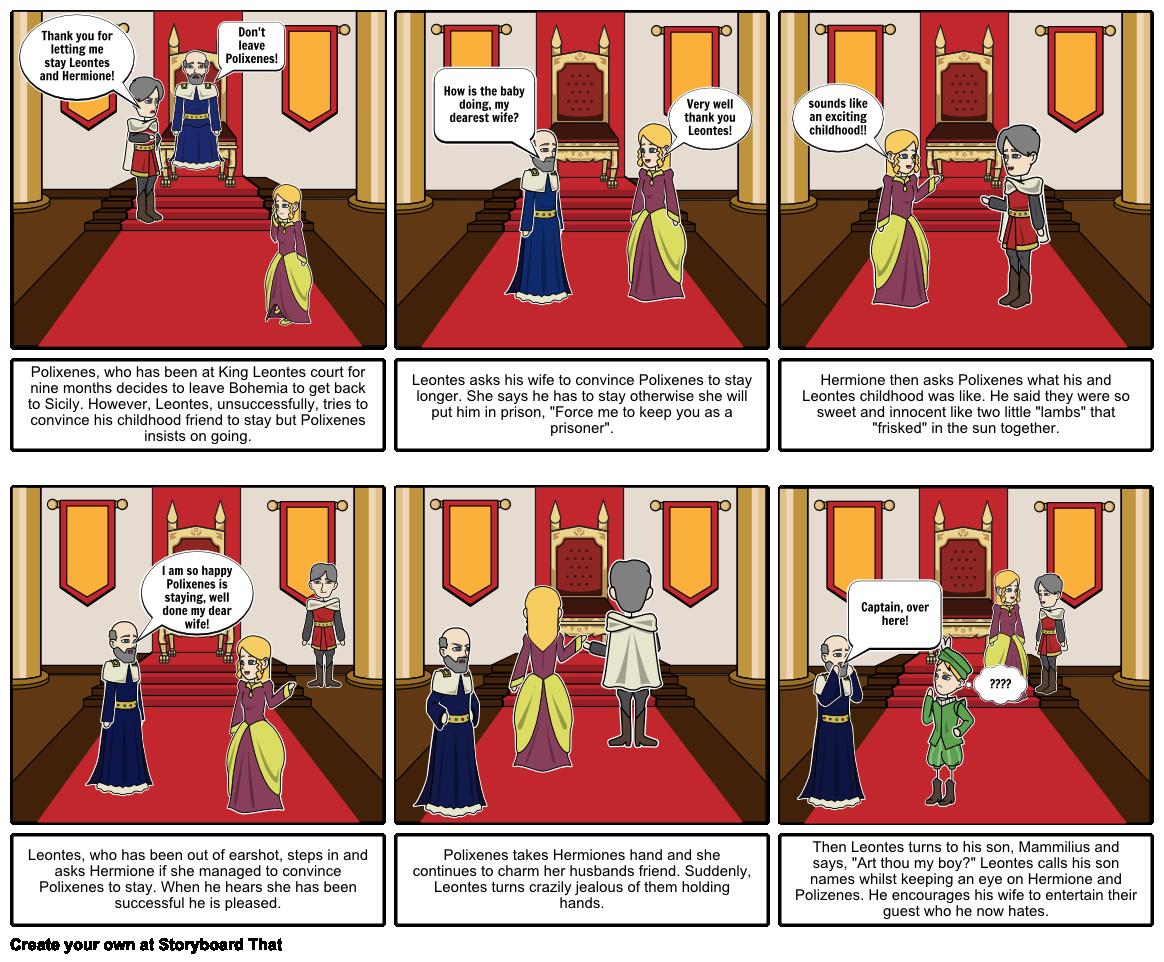 The Winters Tale (act 1 scene 2) Storyboard by rianamaya.