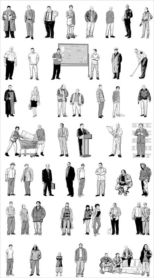 52 Characters from \'The Wire\' on One Poster.