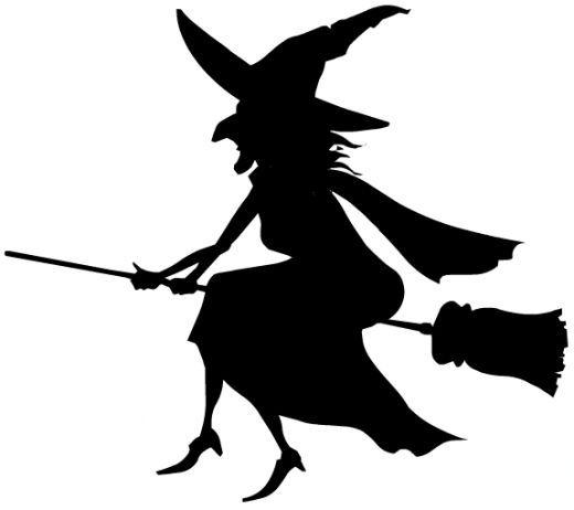 Halloween witch clip art.