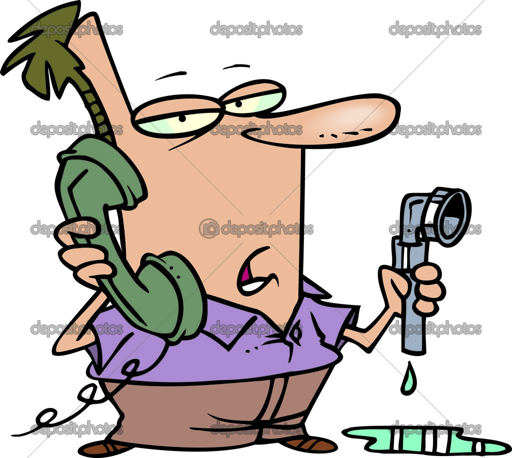 Cartoon Plumbing Woes — Stock Vector © ronleishman #13949989.